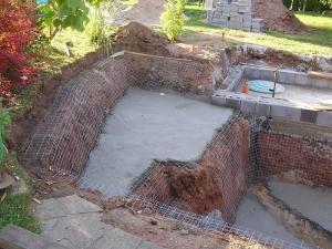 Teichbau gfk anleitung schwimmteich koiteich fischteich for Teich beton anleitung